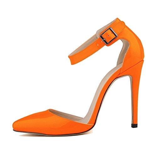 New-Loft Heels Pointed Toe Sandals Ladies Buckle Strap European Size 35-42 NPZ-A0012,5,35 ()