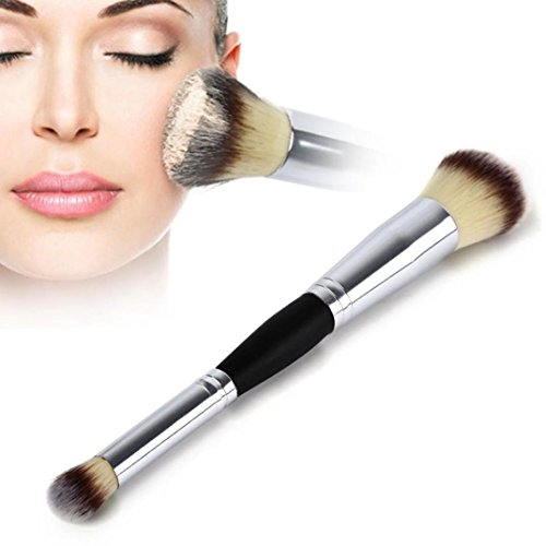 Double Cheek Contour Brush (Binmer(TM) 2-1 Makeup Cosmetic Brushes Contour Face Blush Eyeshadow Powder Foundation Tool)