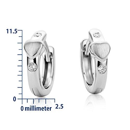 Miore - Boucles d'Oreille Femme - Argent 925/1000 1.8 Gr - Oxyde de Zirconium