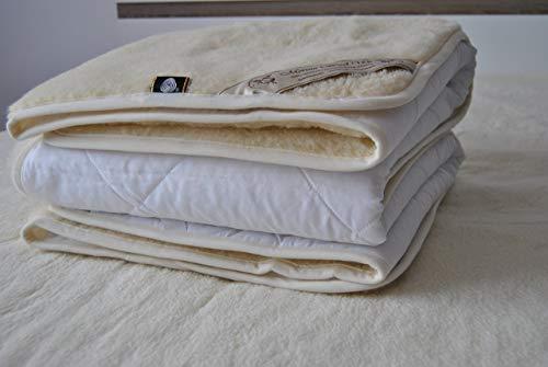 Luxury & Warm ! Reversible Mattress Topper / Pads , 100% Merino Wool Underblanket , ALL Sizes ! (QUEEN 60
