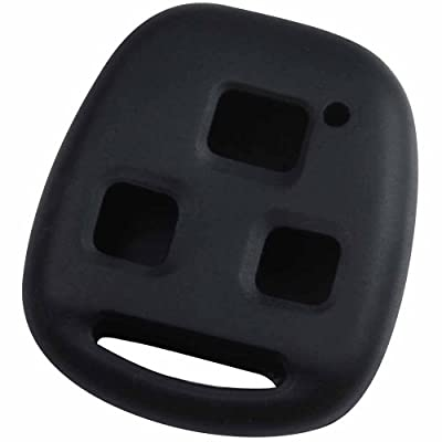 KEYGUARDZ Black Rubber Keyless Entry Remote Key Fob Skin Cover Protector: Automotive