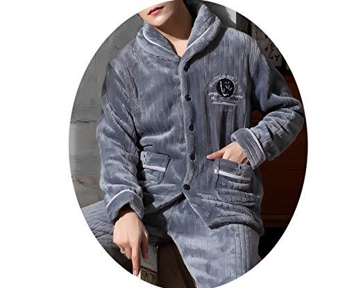 A Abito Uomo Invernale Pajamas Inverno In Flanella Autunno E Corallo Pigiama Da Spessa Maniche Lunghe Giovanile Di Vellutata qCffFw7OSx
