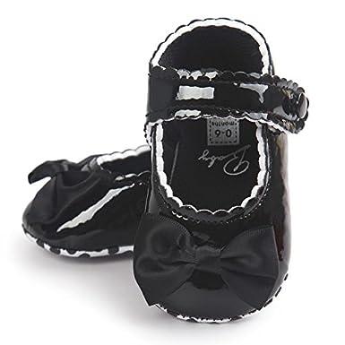 Fossen Kids Zapatos de Bebe Ni/ña de Vestir Zapatos de Bebe Ni/ñas Reci/én Nacido Primeros de Suela Blanda con Bowknot Princesa Estilo 0-18 meses