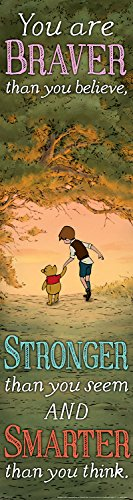 Eureka Winnie The Pooh Vertical Classroom Banner, Braver Than You Believe, Measures 45 x 12""