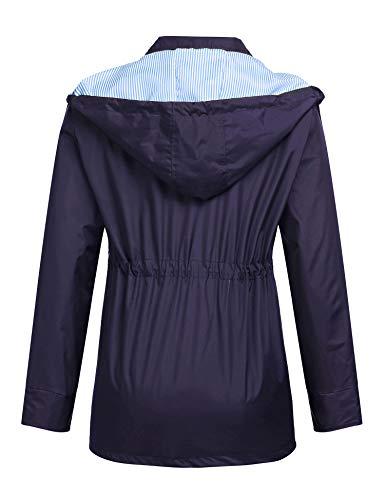 Nave Blouson Romanstii Manches Femme Blue Longues OHI6Iafqw