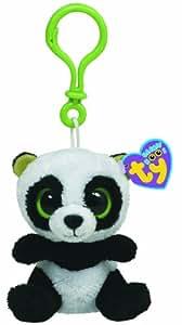 Ty 36502 Beanie Boos - Oso panda de peluche Bamboo con anilla