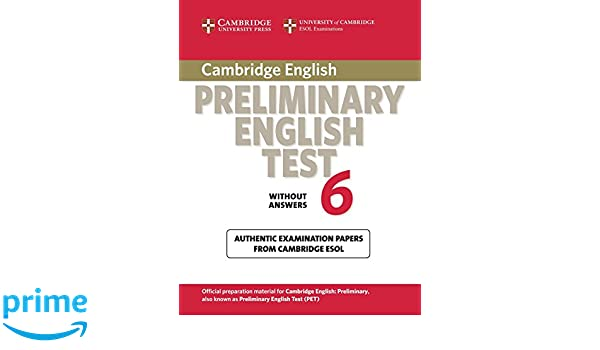 Cambridge Preliminary English Test 6 Student's Book without