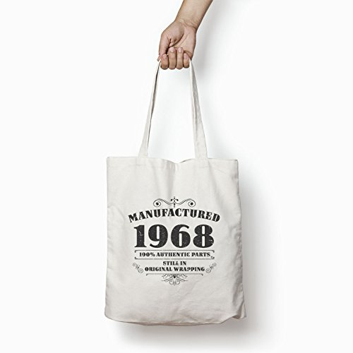 1968 For Bags Bag Tote Gifts Shopper Printed Manufactured Women White Cotton IRaxxqwZ5