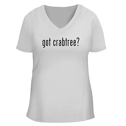 BH Cool Designs got Crabtree? - Cute Women's V Neck Graphic Tee, White, Small
