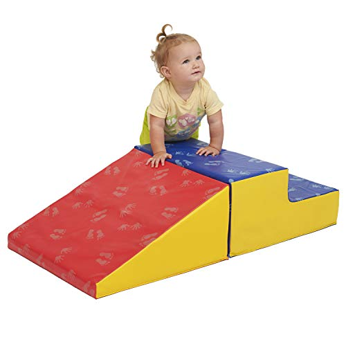 ECR4Kids SoftZone Little Me Play Climb and Slide, Primary (2-Piece) (Best Shoes For Moving Furniture)