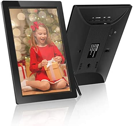 ARAFUNA Digital Picture Frame WiFi, 10 Inch IPS Touch Screen Digital Photo Frame with 16GB Storage, Easy Setup to Share Photos or Videos by means of Free Frameo APP, Auto-Rotate/Wall-Mountable - Black