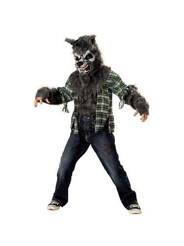 Werewolf Child Costume Grey - Large (Halloween Fur Werewolf Mask)
