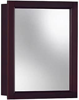 Jensen 780989 Sheridan Framed Medicine Cabinet, Espresso Wood, Surface  Mount, 15 Inch