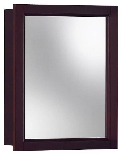 - Jensen 780989 Sheridan Framed Medicine Cabinet, Espresso Wood, Surface Mount, 15-Inch By 19-Inch