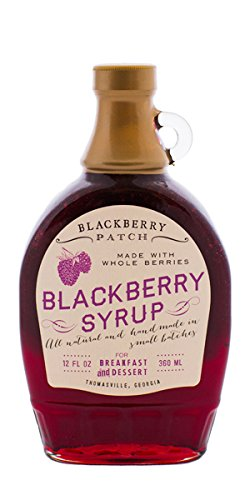 Blackberry Patch Whole Blackberry Syrup Contains Sugar All Natural Handmade In Small Batches |For breakfast pancakes and waffles or drizzled over fresh fruit 12 FL oz. (Whole Blackberry Maple 12Ounce)