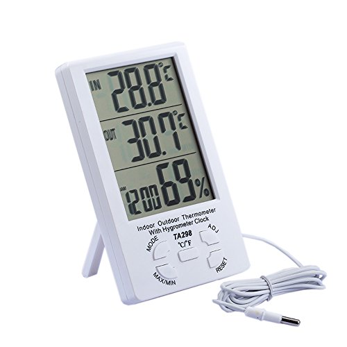 HONGVILLE Outside & Inside Digital LCD Thermometer