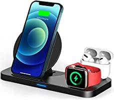 TEMINICE 3 in 1 Wireless Charger for Apple Watch & AirPods Charging Dock Station, Nightstand Mode for iWatch Series...