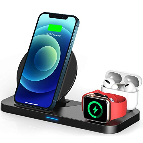 TEMINICE 3 in 1 Wireless Charger for Apple Watch & AirPods Charging Dock Station, Nightstand Mod