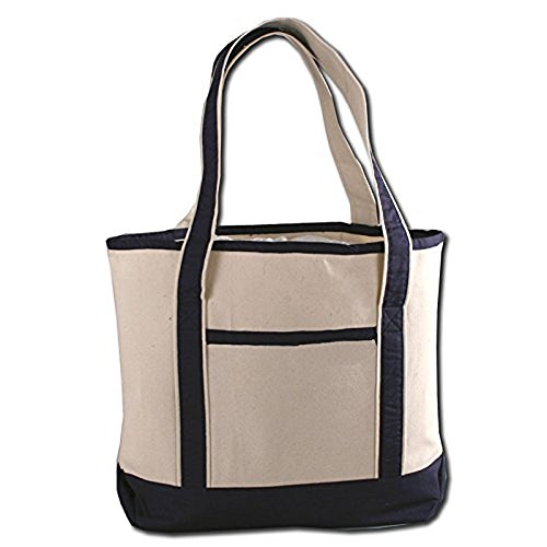 Canvas Beach Tote Bags (Navy) ()