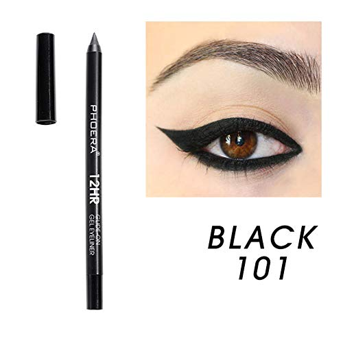 - wewa98698 PHOERA Waterproof Pearly Eyeliner Non Smudge Long Lasting Quick-dry Cosmetics for Women - 1
