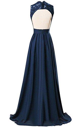 Pink Ausschnitt Parteikleid Spitze V Chiffon Lange Abendkleid mit CoutureBridal® qU85f6x