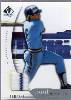 (2005 SP Authentic Jersey #76 Paul Molitor Jersey Card Serial)