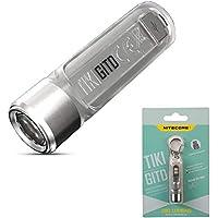 NITECORE TIKI GITD - Mini Llavero Linterna de Bolsillo - Fosforescente - 300 Lúmenes LED y Luz Ultravioleta - Linterna…