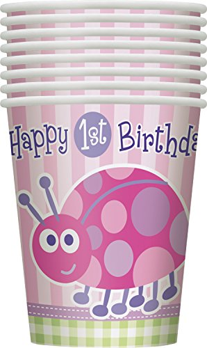 9oz Ladybug 1st Birthday Party Cups, 8ct