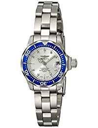 Invicta Women's 14125 Pro Diver Silver Dial Stainless Steel Watch