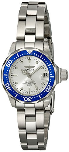 Invicta Women's 14125 Pro Diver Stainless Steel Bracelet Watch - Invicta Bezel