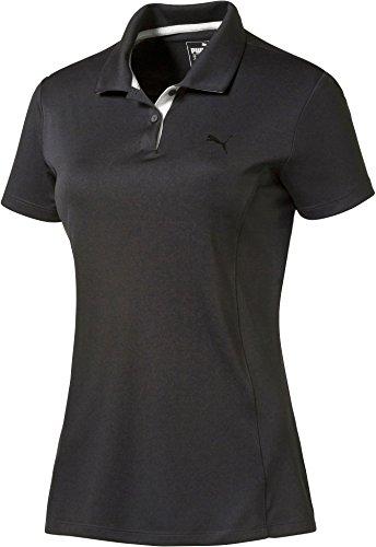 使役トリクルマウンドプーマ トップス シャツ PUMA Women's Pounce Golf Polo Black [並行輸入品]