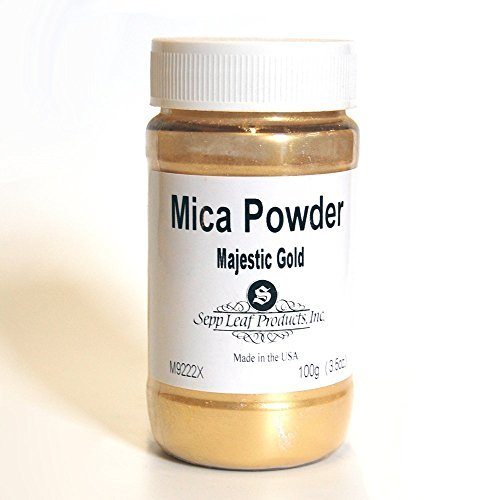Sepp Leaf Mica Powder Majestic Gold 3.53 Ounce Bottle