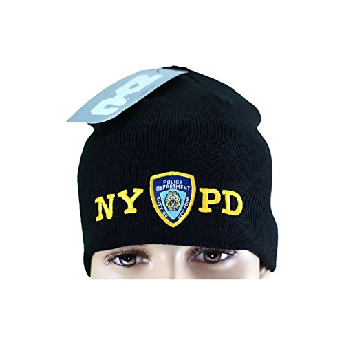 NYPD No Fold Winter Hat Beanie Skull Cap Officially Licensed Black nycfactory-11199106b