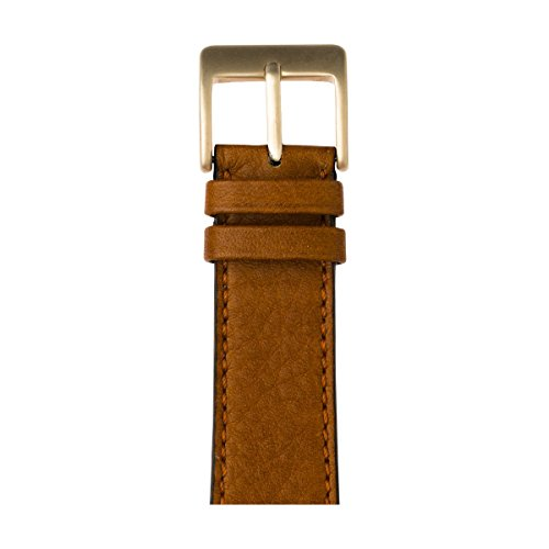 Roobaya | Premium Sauvage Leather Apple Watch Band in Cognac | Includes Adapters matching the Color of the Apple Watch, Case Color:Gold Aluminum, Size:38 mm by Roobaya
