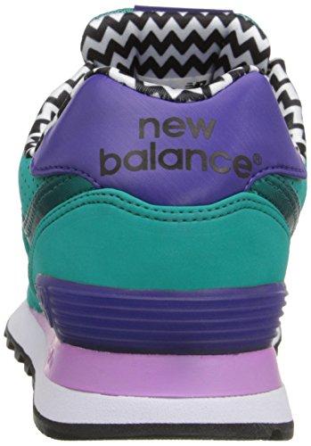 New Balance WL574acrílico unidades Classic Zapatillas de la mujer Verde/Negro