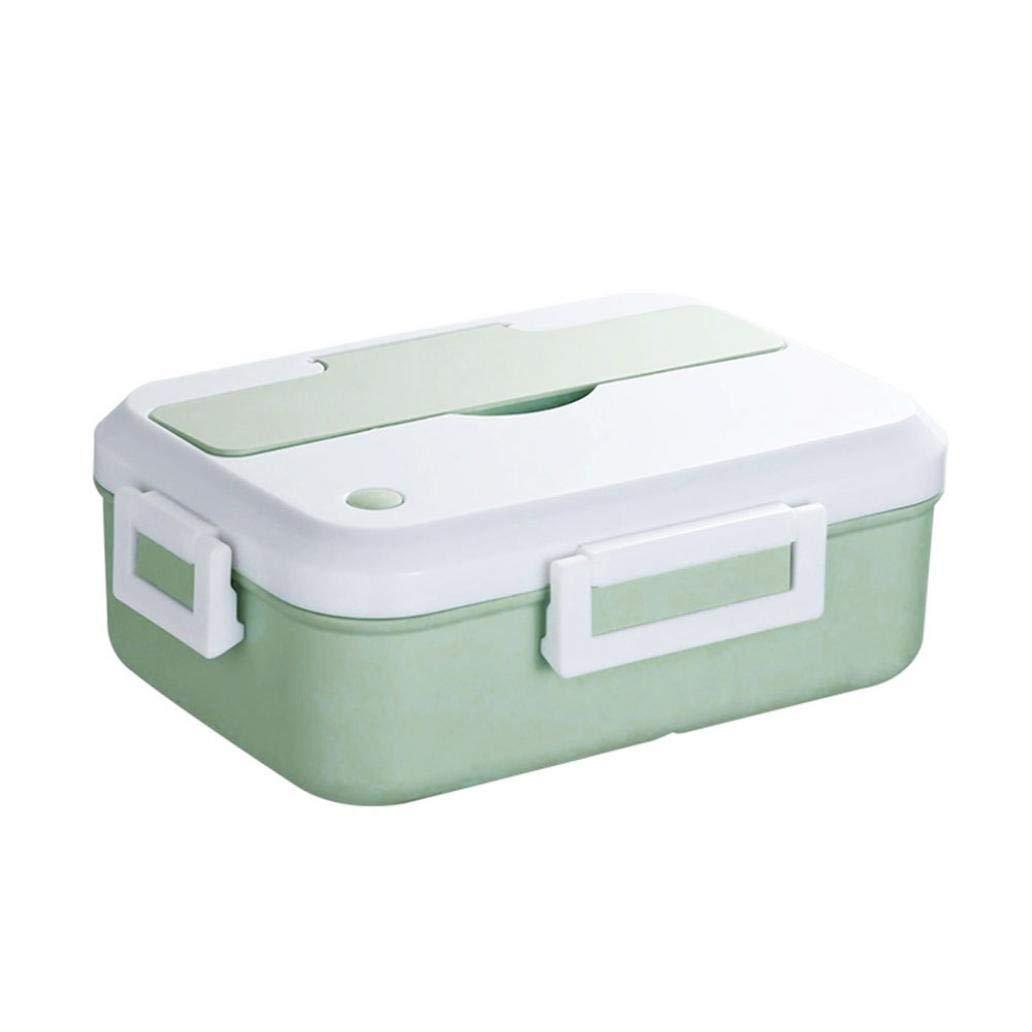 Uticon Lunch Box,3 Griglie Portatile Isolati Lunch Box per Picnic Deposito Bento Box Contenitore Alimentare Green