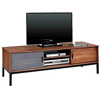 Meuble Tv Selma Banc Tlvision Style Industriel Design Vintage Avec