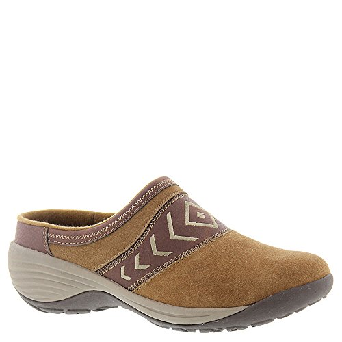 Easy Spirit Suede Clogs (Easy Spirit Women's Ikatta Mule, Dark Natural/Brown Suede, 7.5 N US)