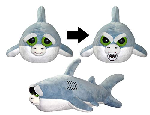 William Mark Feisty Pets Chewy The Chomp Plush Baby Shark - Turns Feisty with a Squeeze -