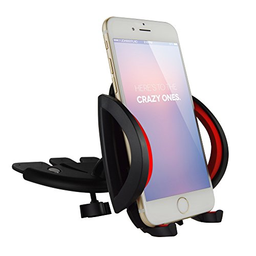 Ipow Universal 360°Swivel CD Slot Car Mount Holder Cradle with A Quick Release Button for iPhone 6 6S Plus 7 plus 5 5S,iPod Touch,Samsung Galaxy edge 7 S7 S6 S3 S5 ,LG G3,Nexus 5,Motorola,Sony