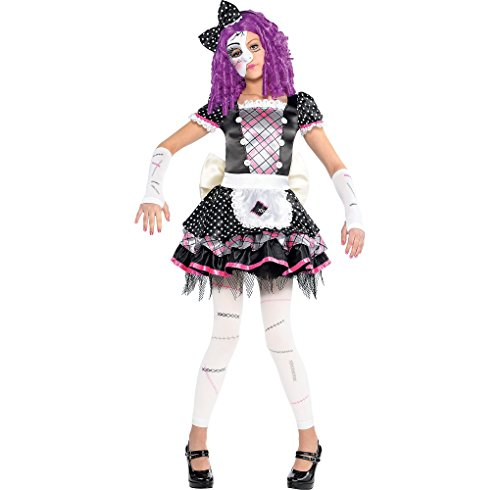 Amscan Damaged Doll Halloween Costume for Girls, Medium, with Included Accessories for $<!--$46.02-->