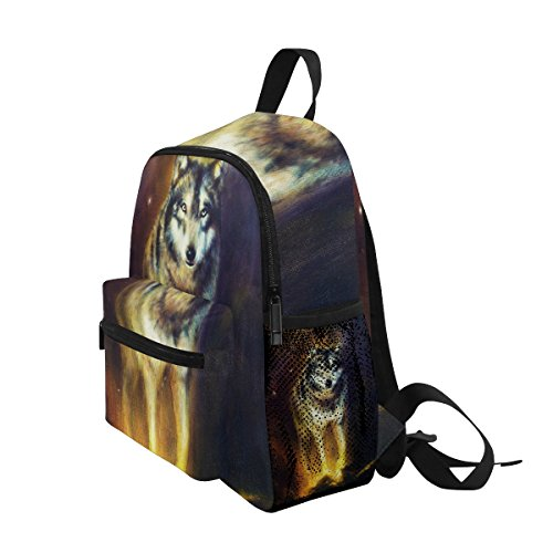 Wolf nbsp;for nbsp;Book nbsp;Backpack nbsp;School Animal nbsp;Girls nbsp;Toddler Boys nbsp;Bag Funny ZZKKO Kids 51wq8S7