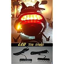 LED Motorcycle Turn Signals Blinkers Front Rear Peg Light Cowl Slim EBR Buell