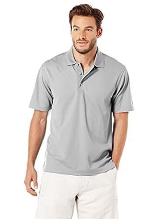 Cubavera Mens 3 Button Wickering Fabric Polo Short Sleeve Shirt