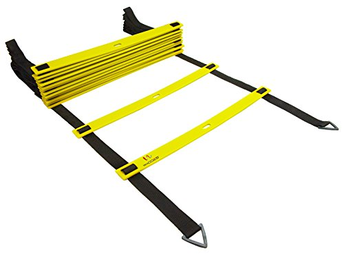 Wacces Speed Super Flat Adjustable Speed Agility Ladder for Soccer, Speed, Football, Fitness with Free Carry Bag