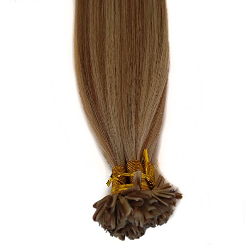 Price comparison product image Nail U Blonde Hair Extensions Highlighted Silky Straight 20inch Remy Human Hair