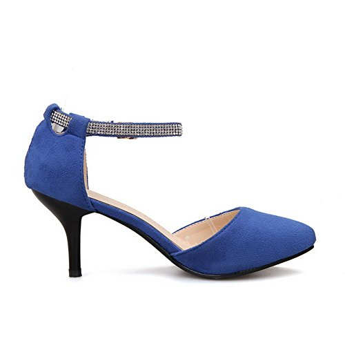 AdeeSu Womens Dress Casual Solid Urethane Sandals SLC04050 Blue L3gVta