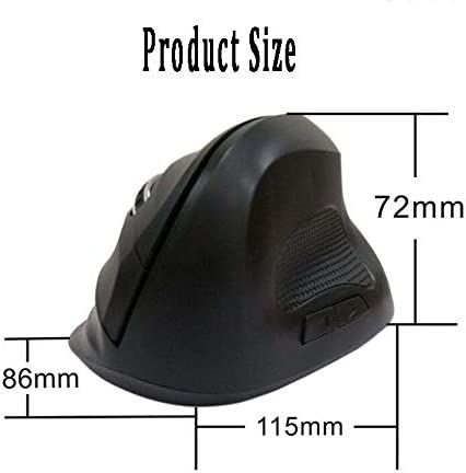 Mouse Vertical Mouse Wireless Color : Black, Size : 115x86/×72mm Ergonomic Mouse with 6D Wireless Rechargeable Mouse