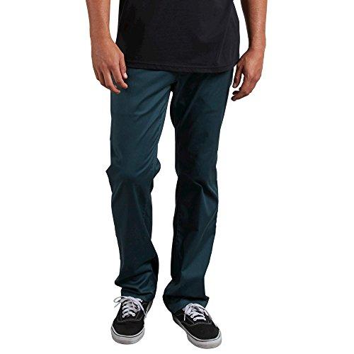 (Volcom Men's Frickin Modern Fit Stretch Chino Pant, Navy Green, 28)