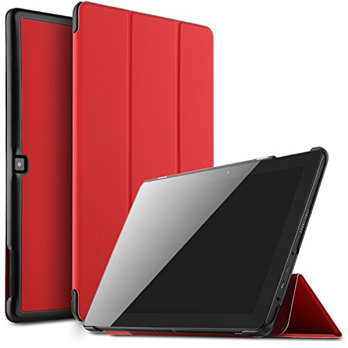 IVSO Dragon Touch X10 2017 Tablet Case, Ultra Lightweight Slim Smart Cover Case for Dragon Touch X10 2017 Tablet(Red)